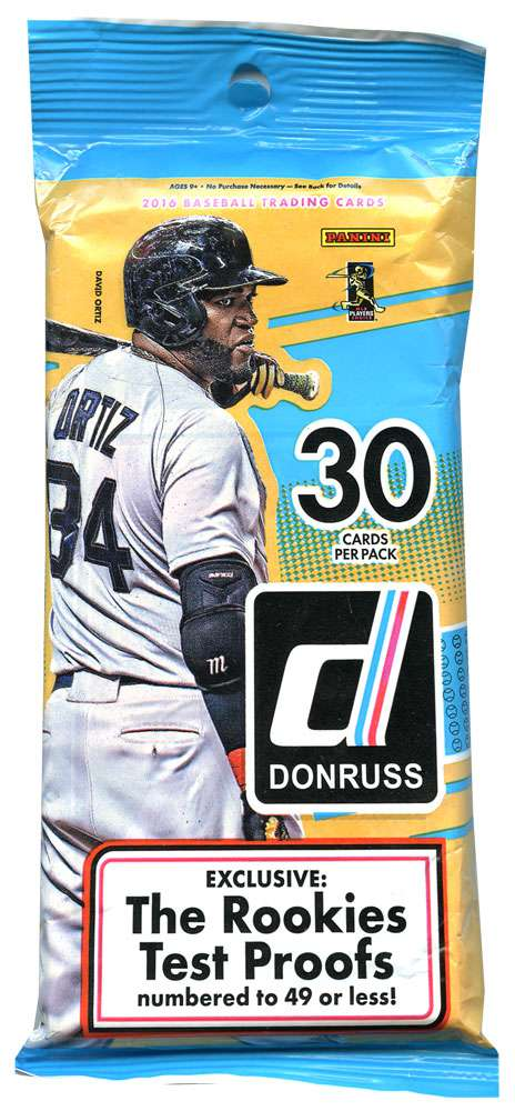 Details About Mlb Baseball 2016 Donruss Trading Card Fat Pack