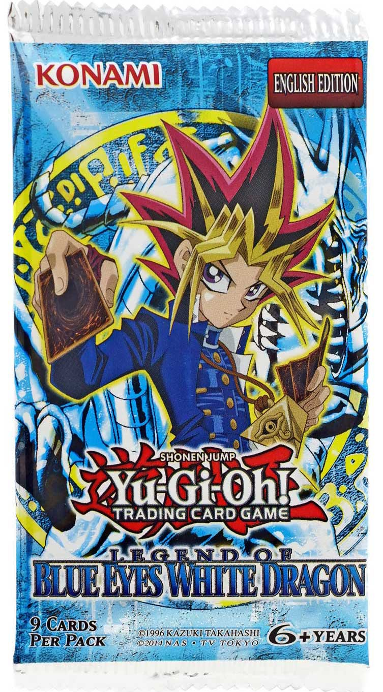 Yugioh 3 Packs The Legend of Blue Eyes White Dragon 3X Unlimited
