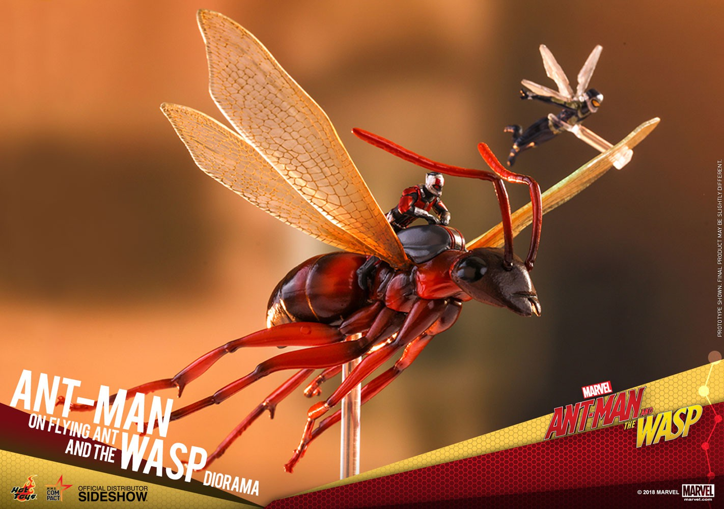 Movie Masterpiece Compact Series Ant-Man & Wasp 4-Inch Diorama