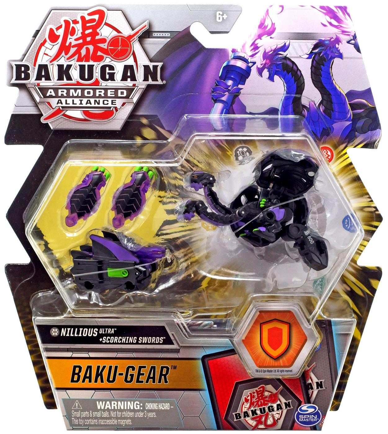 Bakugan Armored Alliance Baku Gear Nillious Ultra and Scorching Swords NEW