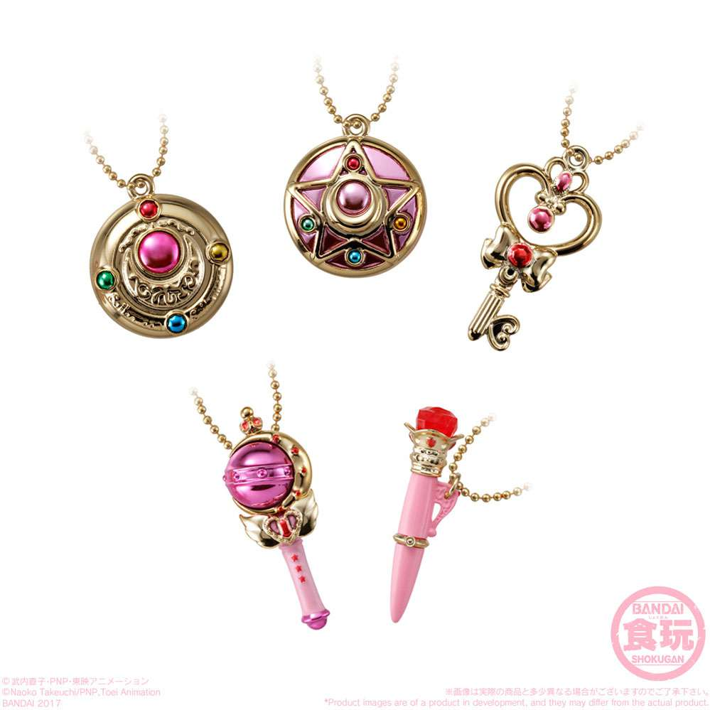 Bandai Sailor Moon Crystal Ribbon charm 2 /& Little charm keychain complete Set