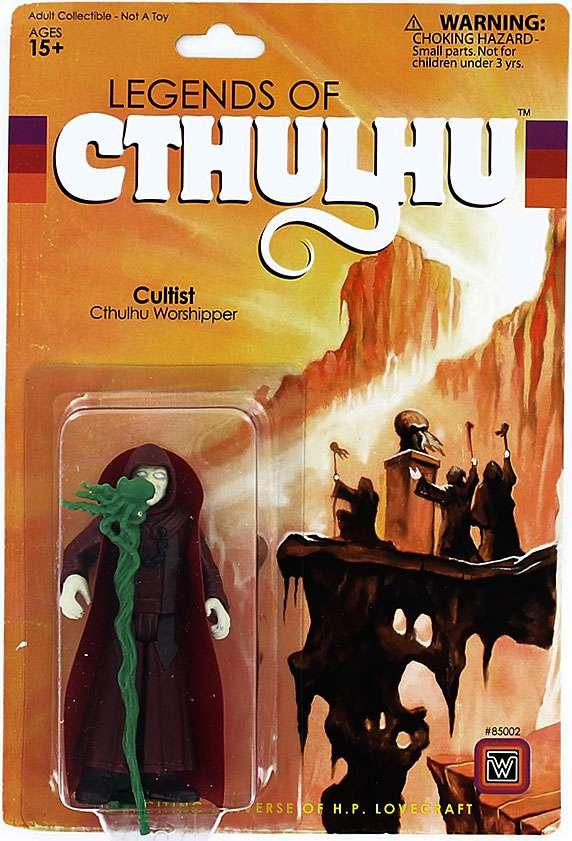 "2015 Warpo Legends of Cthulhu CULTIST 4/"" Inch 1:18th Scale Toy Art Figure MOC"
