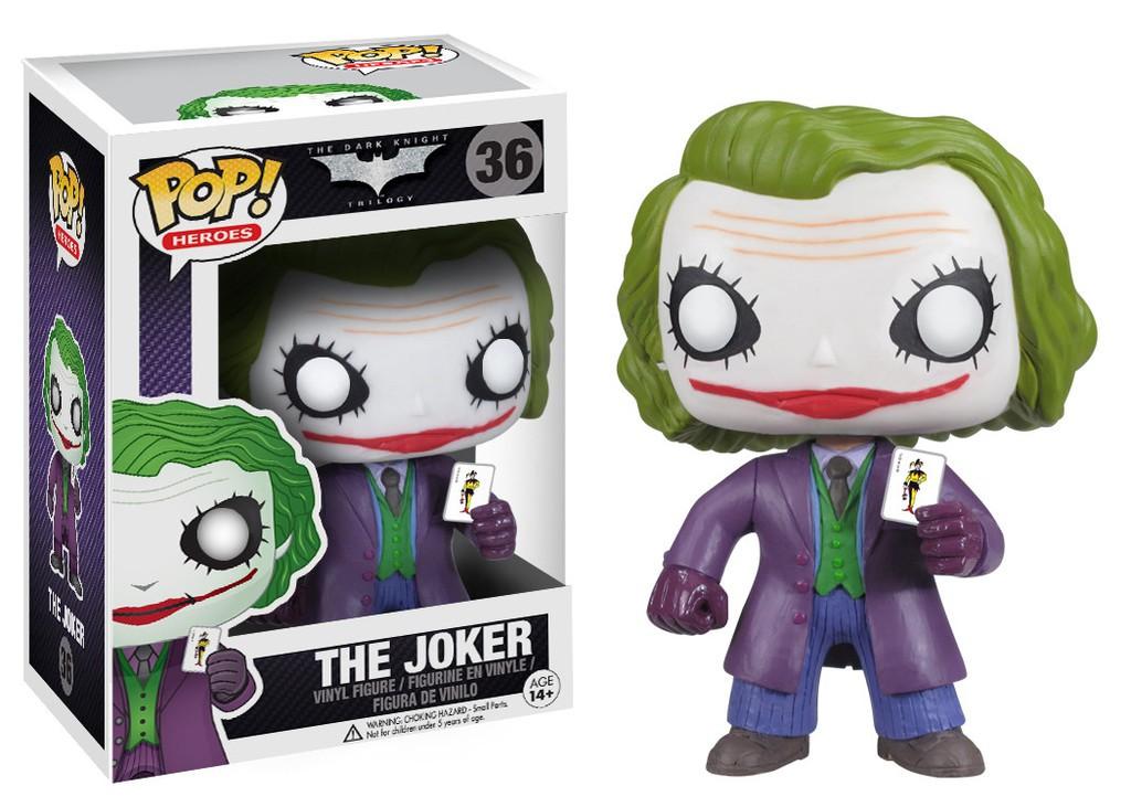 Funko Pop Heroes The Joker Vinyl Figure Item #3372 The Dark Knight