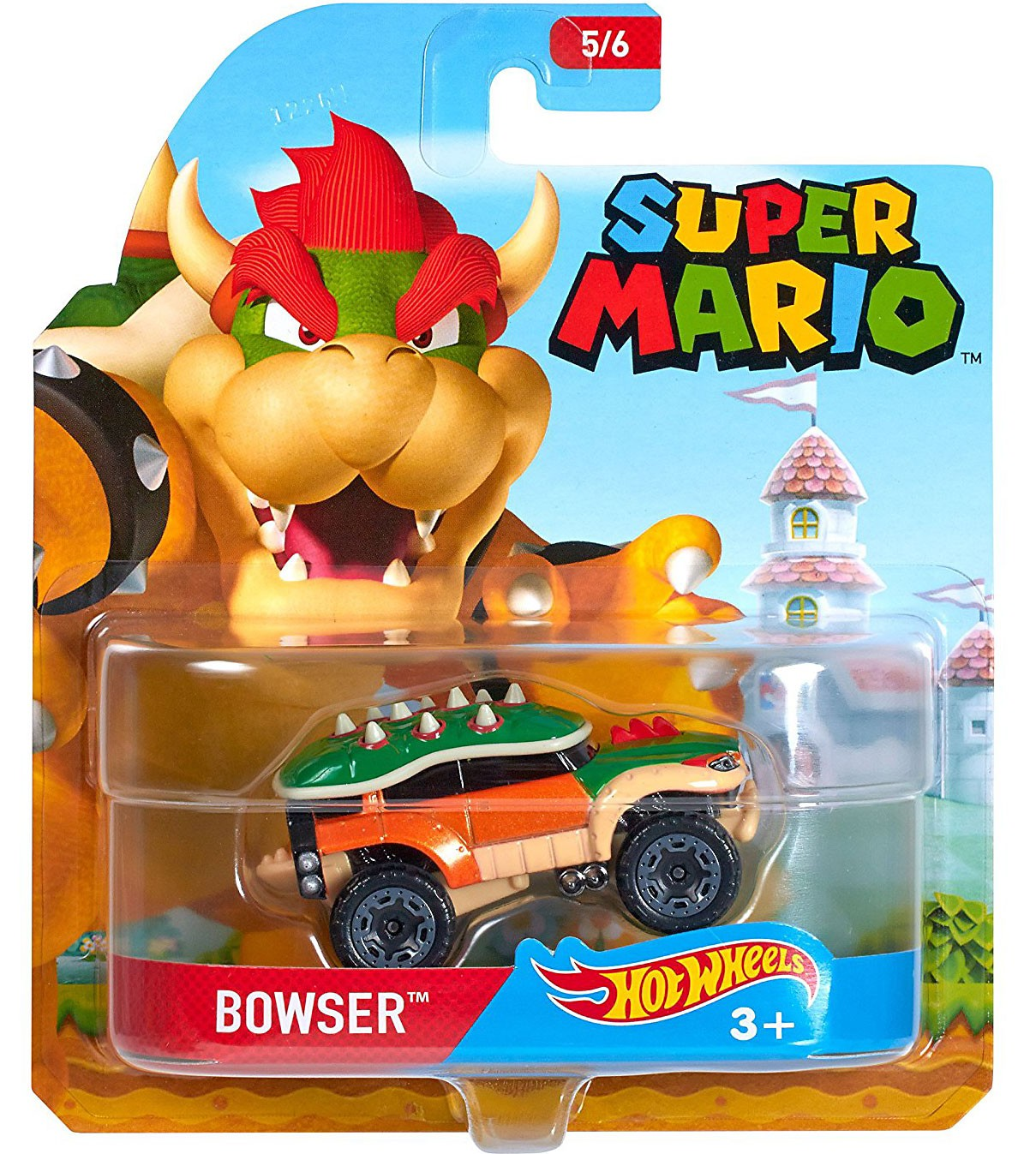 Mario Kart Hot Wheels Character Cars BOWSER BANDWAGON