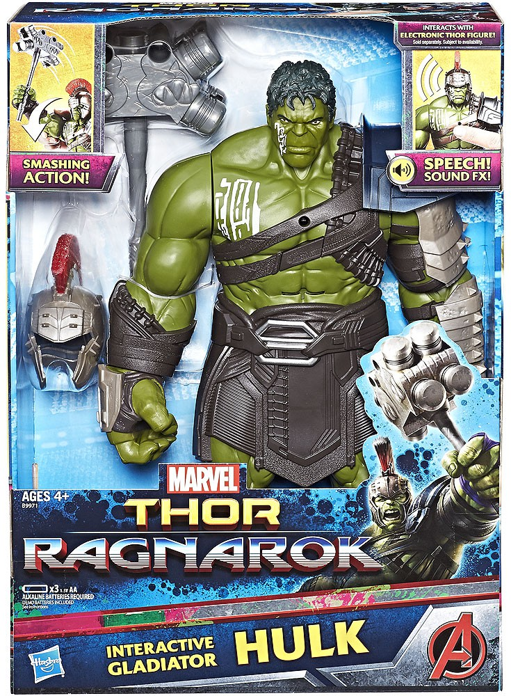 "Marvel Hulk Interactive Gladiator Thor Ragnarok NIB 13/"" Figure"
