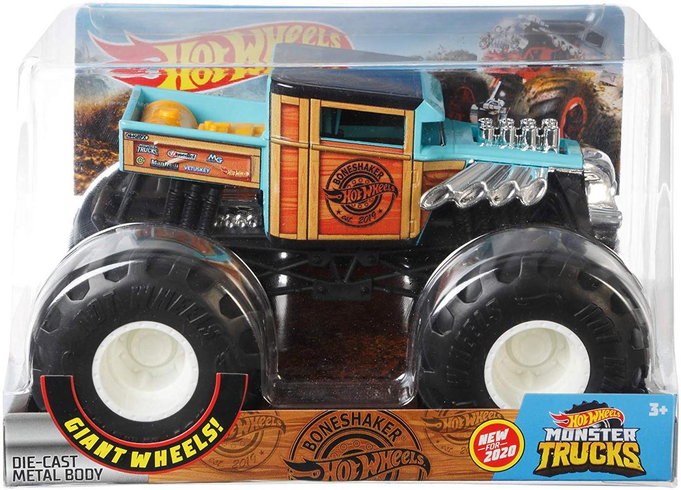 Hot Wheels Monster Trucks Boneshaker Die Cast Car Ebay