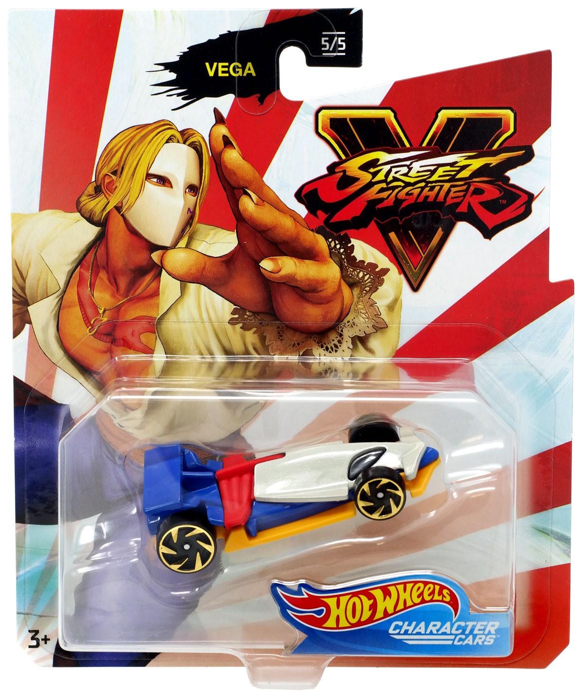 Hot Wheels Street Fighter V Character Cars Vega Die Cast Car 5 5