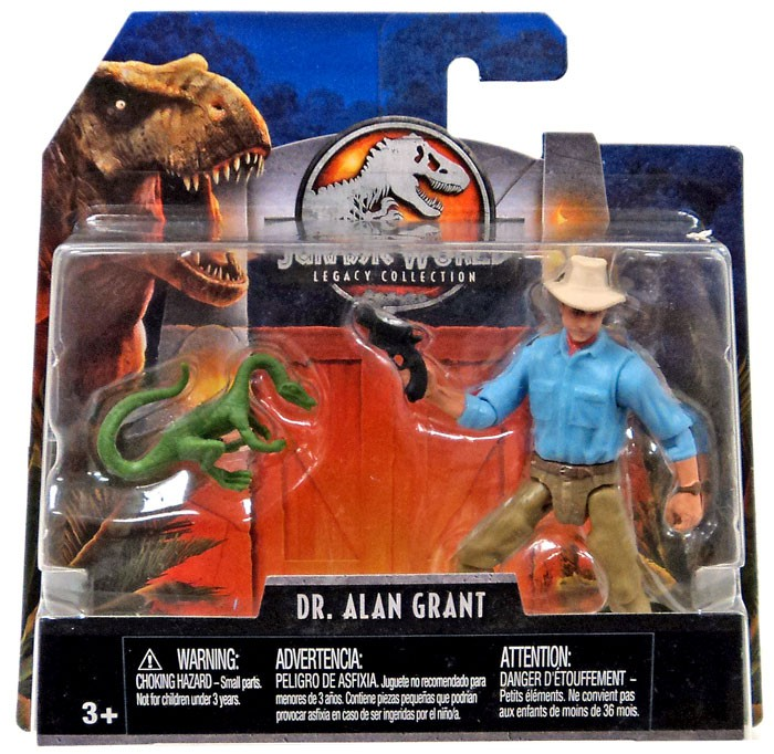 Alan Grant 2018 Mattel Figure New Sealed! Jurassic World Legacy Collection Dr