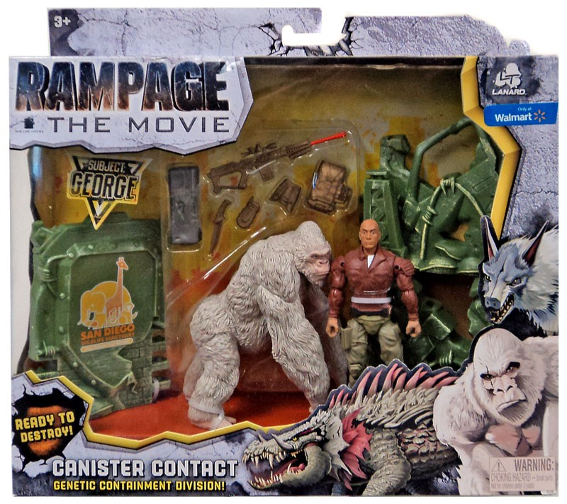Details about Rampage The Movie Canister Contact George Exclusive Figure Set