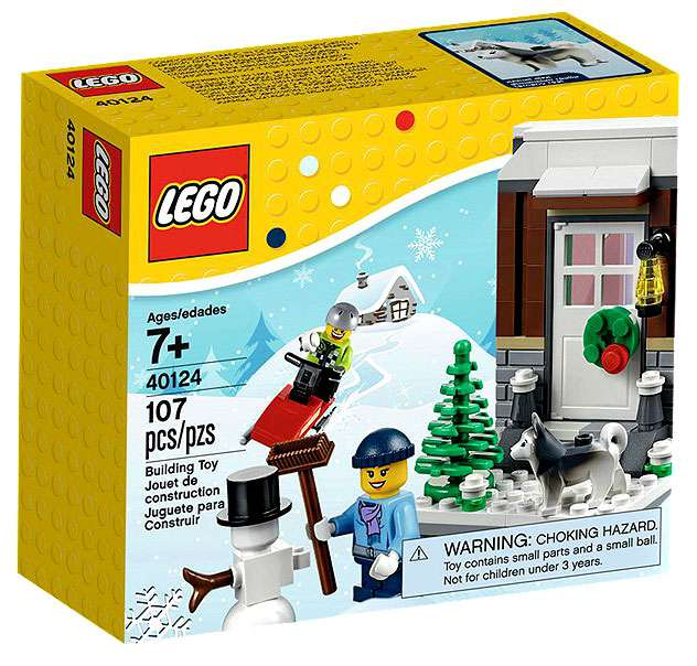 Gift New LEGO 2015 Christmas Limited Edition Winter Fun 107 Pcs Set 40124