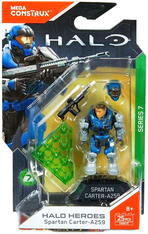 Details about Mega Bloks Halo Mega Construx Heroes Series 7 Spartan  Carter-A259 Mini Figure