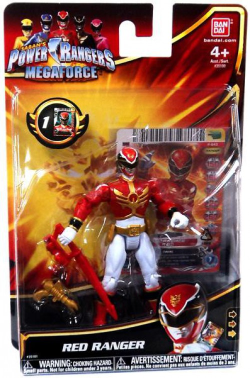 Details about Power Rangers Megaforce Red Ranger Action Figure