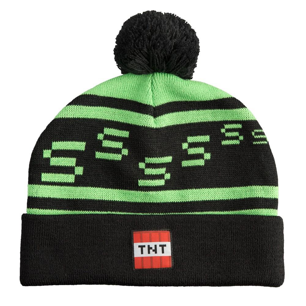 JINX Minecraft Creeper Pom Knit Beanie Youth Fit Green