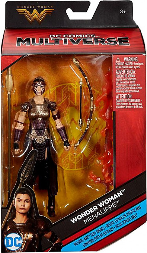 New MENALIPPE  wonder woman dc multiverse figure 6 inch Ares Fiery Swords