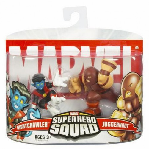 Marvel Super Hero Squad RARE Blue Charging JUGGERNAUT from Collector/'s Pack 2