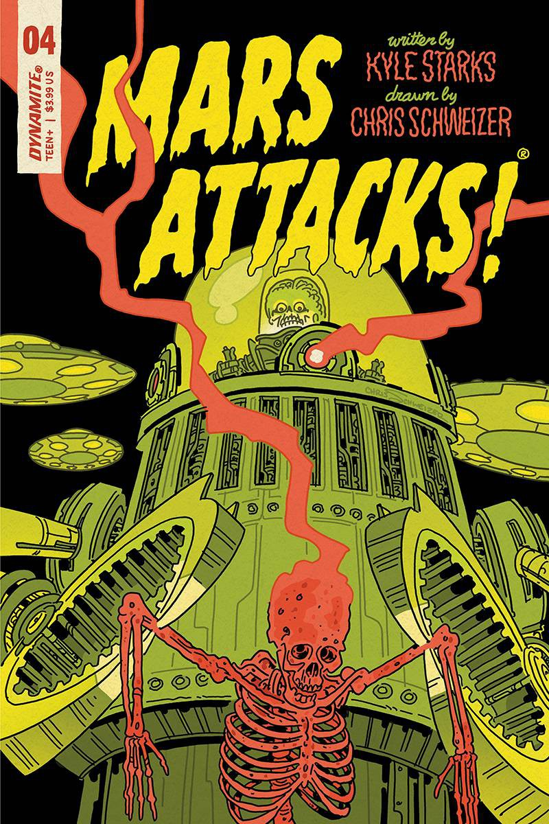 Dynamite Entertainment Mars Attacks #1 Comic Book Cover E Schweizer Variant