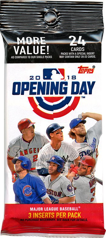 Details About Mlb 2018 Topps Baseball Cards 2018 Opening Day Trading Card Value Pack
