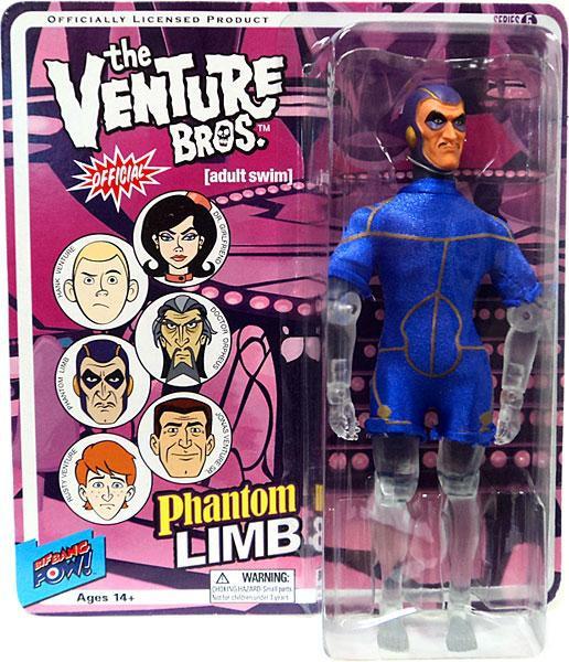 Phantom Limb 3 3//4-Inch Action Figure New and Unopened adult swim Venture Bros
