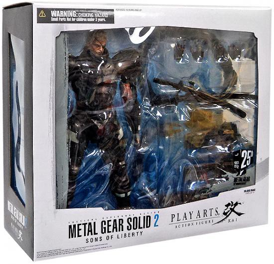 Details About Metal Gear Solid 2 Sons Of Liberty Play Arts Kai Solidus Snake Action Figure