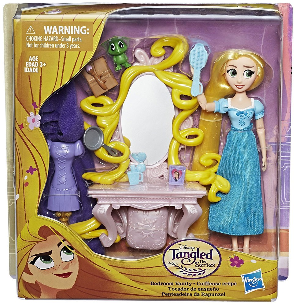 Disney Tangled The Series Rapunzel Bedroom Vanity Figure Set Ebay