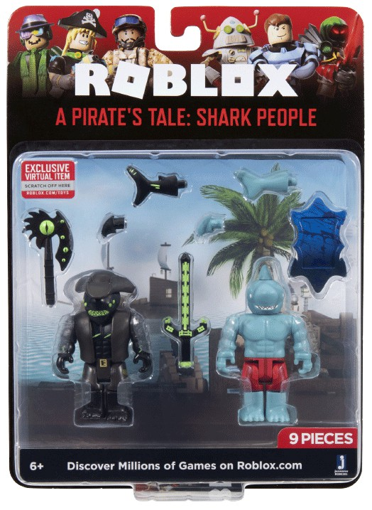 Roblox A Pirate S Tale Shark People Action Figure 2 Pack Ebay