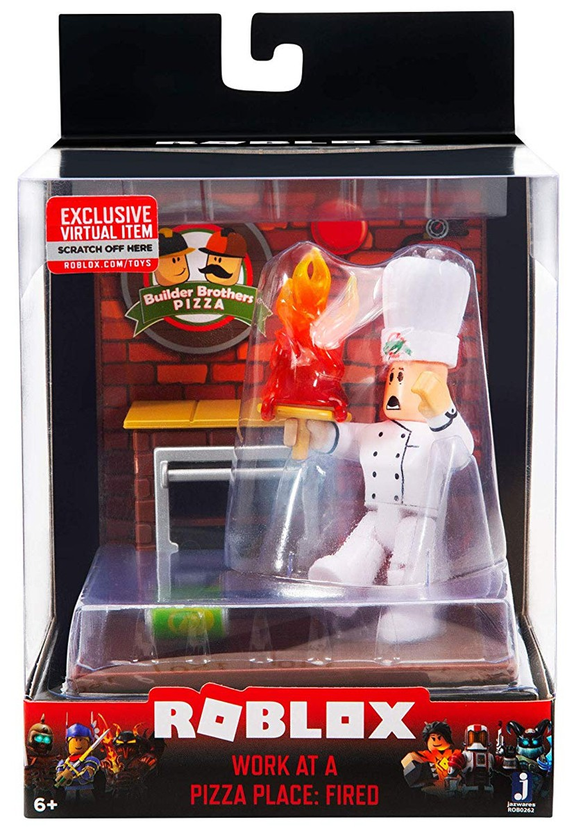 Roblox Desktop Series Work At A Pizza Place Fired Action Figure 191726009825 Ebay