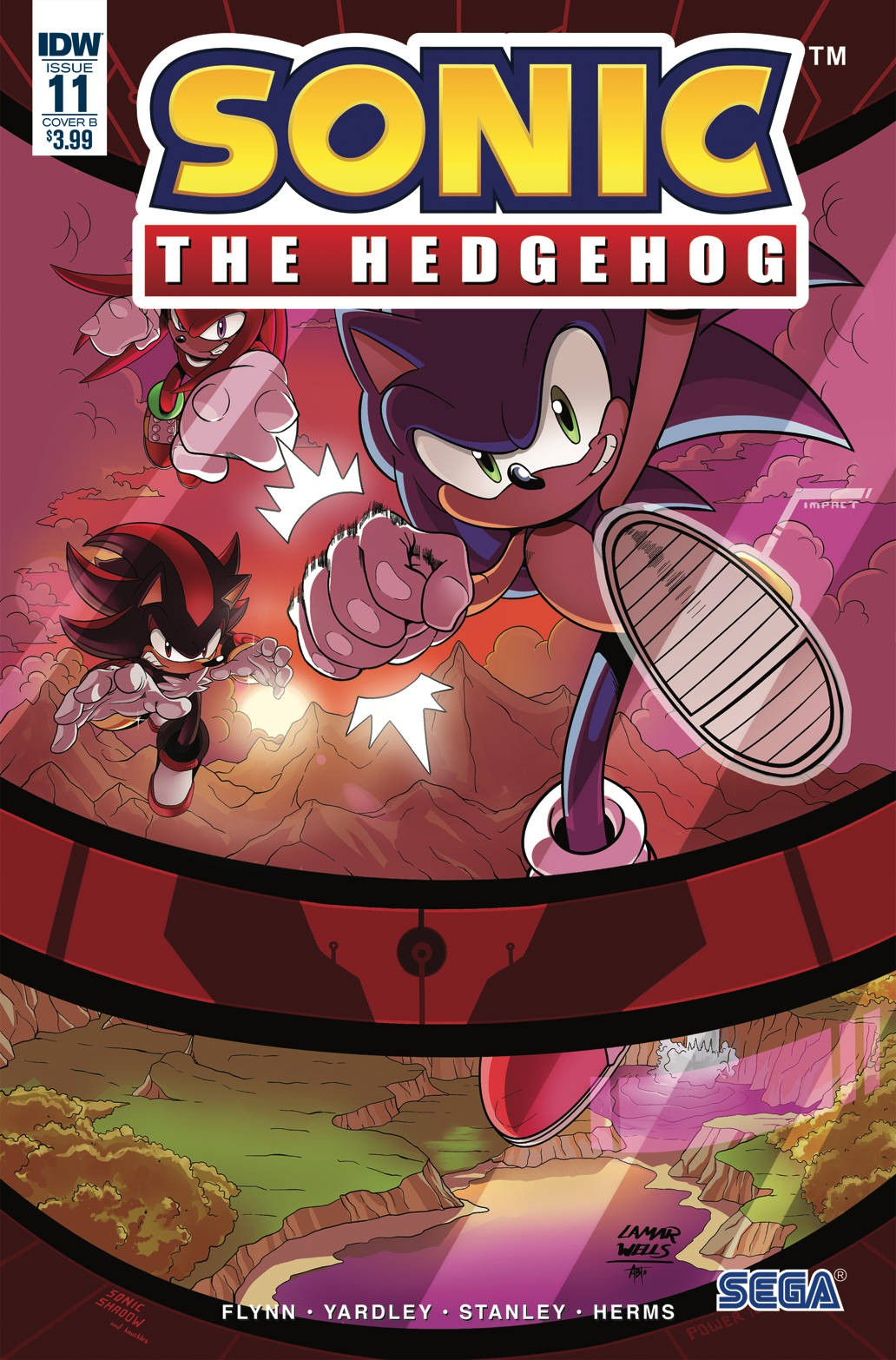 Idw Sonic The Hedgehog 11 Comic Book Tracy Yardley Cover B Variant 739761815287 Ebay