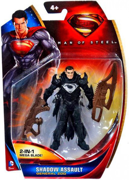 "#Q4~ GENERAL ZOD  Man Of Steel Superman Movie Masters 6/"" Action Figure MATTEL"