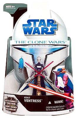 Figurine d'action # 15 de Asajj Ventress par Star Wars The Clone 2008