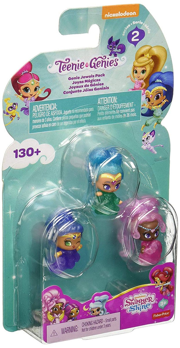 FISHER PRICE SHIMMER /& SHINE TEENIE GENIES SURPRISE RINGS X 3 NEW BLIND PACKS