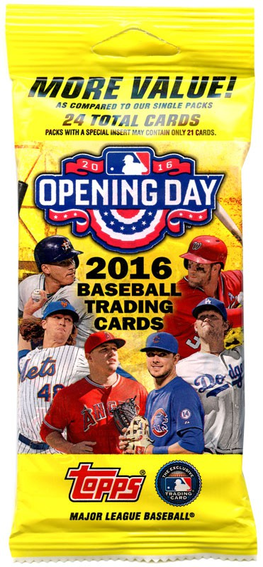 Details About Mlb 2016 Topps Baseball Cards 2016 Opening Day Trading Card Value Pack
