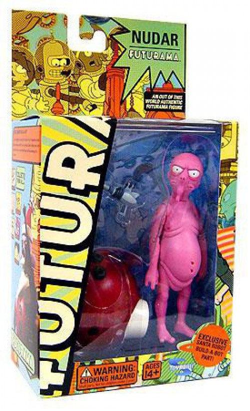 Futurama Series 4 Nudar Alien 6-Inch Action Figure Toynami