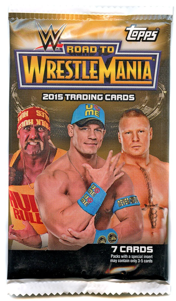 24 packs 2015 Topps WWE Road To WrestleMania Trading Cards HOBBY Box 7 cards