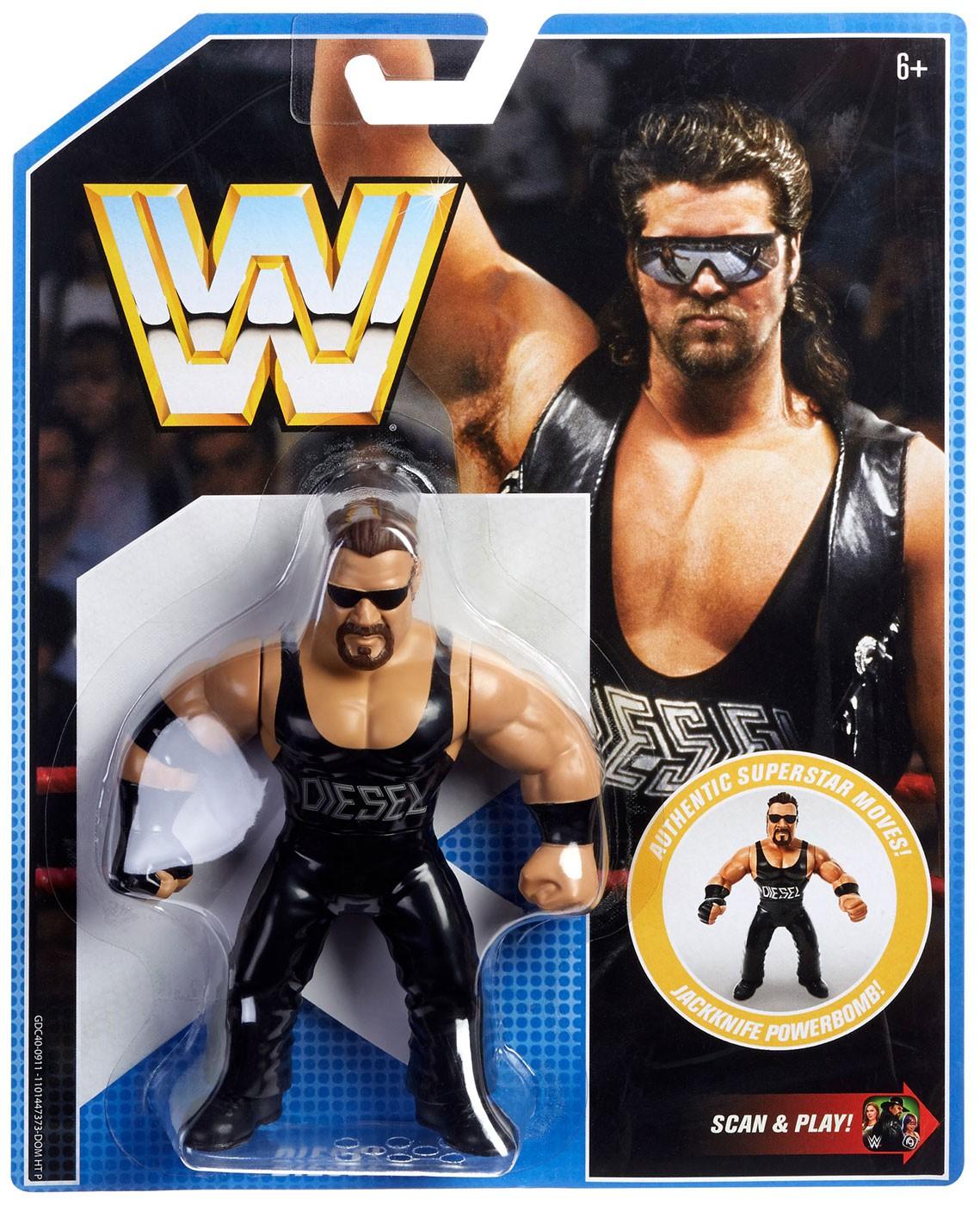 Rétro WWE Wrestling Action Figure Mattel avec Scan /& Play QR Code